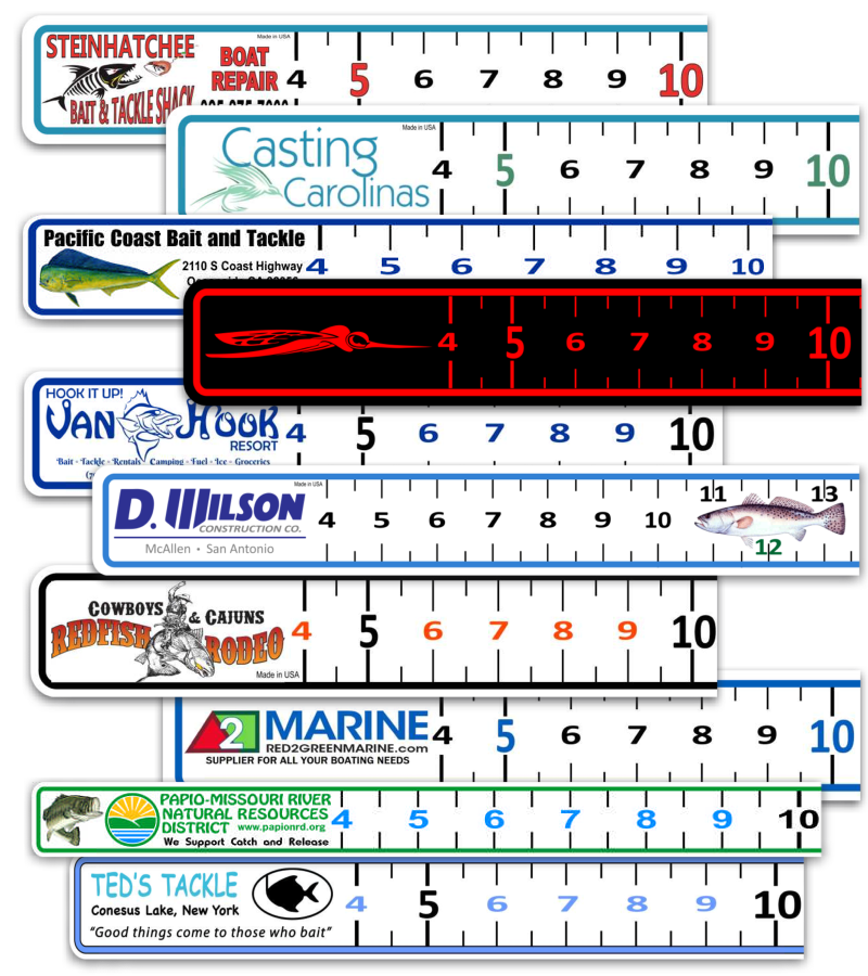 Boat ruler vinyl decal for Fish ruler sticker