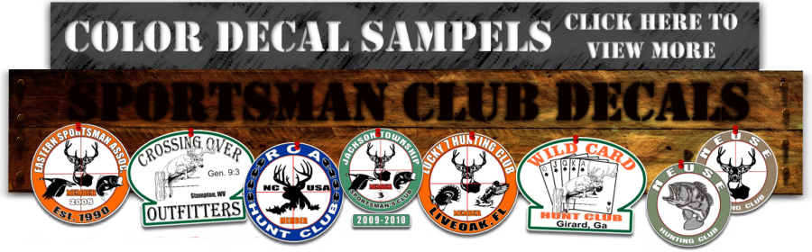 full color hunting club decals