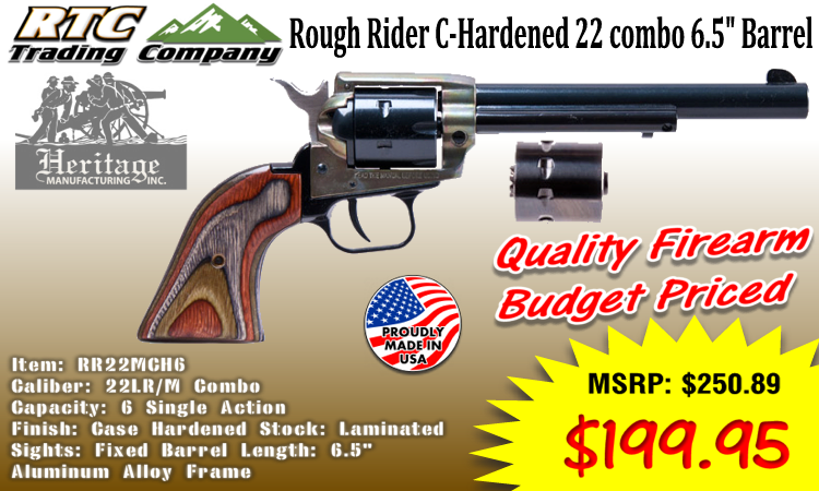 hertige rough rider case hardened 22 lr m combo