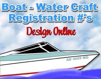 Boat Water Craft Registration Numbers Id Watercraft Vessel