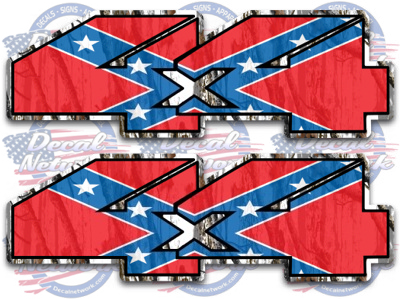 4x4 Off Road Decals Rebel Flag Dixie Camouflage