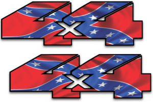 4x4 Off Road Decals Rebel Flag Dixie