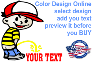 Custom Color Pee On Piss Pissing Peeing Decals Decal Sticker
