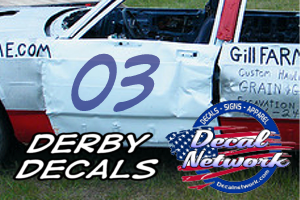 Demolition Derby Decals Door Number Kits Stickers