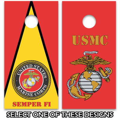 Usmc Marine Corps Cornhole Board Decal Wrap