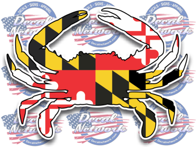 Maryland Blue Crab Vinyl Decal Sticker For Car Truck Suv