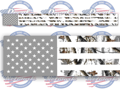 Camo American Flag Windshield Banner Decal Sticker Camouflage