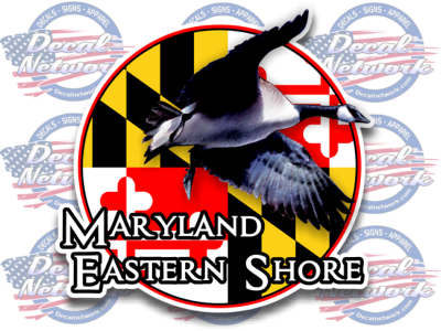 Maryland Eastern Shore Series Vinyl Decal Canadian Goose