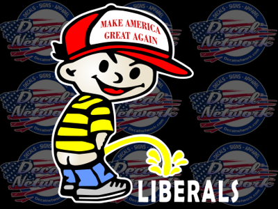 Pee Boy Pissing On Liberals Make America Great Again