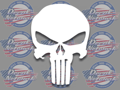 Punisher Skull Vinyl Decal Size Color Selection