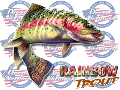 Full Color Rainbow Trout Vinyl Decal Sticker Truck Window