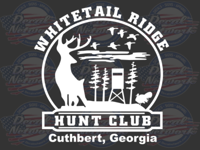 Custom Hunt Club Vinyl Decal