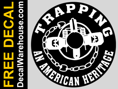 Free Car Truck Window Decal Sticker Trapping An American