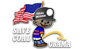 save coal coal miner pee on obama