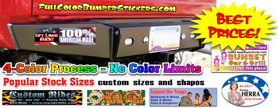 custom full color bumper stickers