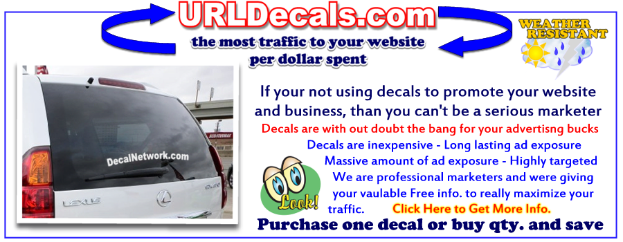 url website decals