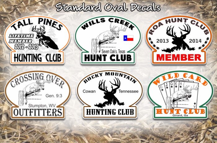 custom full color hunting club decals custom