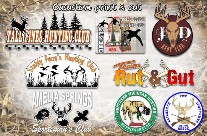 sportsman club custom decals stickers
