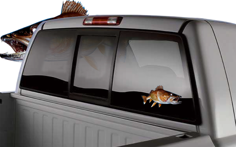walleye decals for truck boat sticker