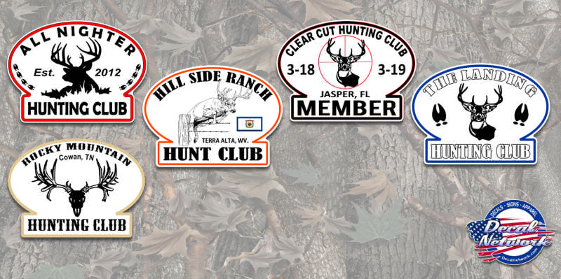 custom oval hunting club decals