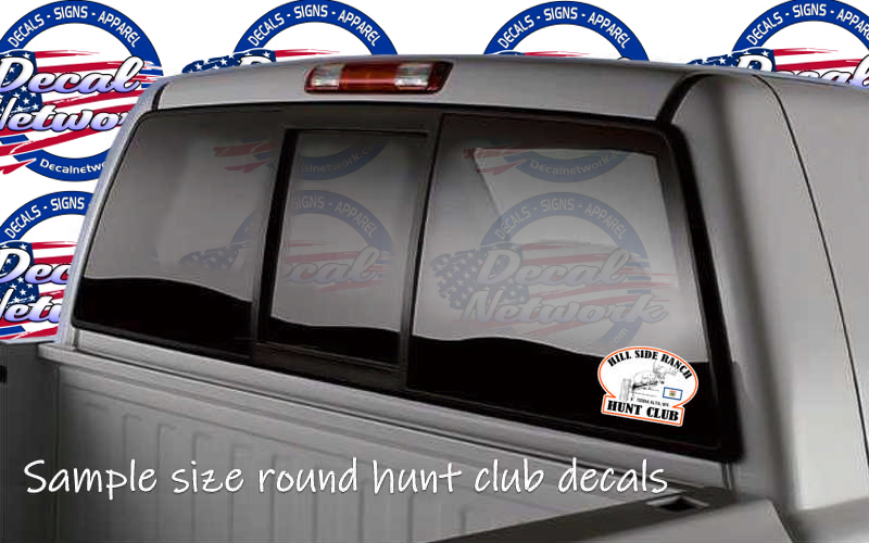 Custom hunt club vinyl sticker decal