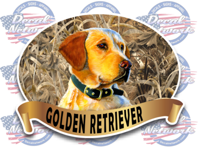 Golden Retriever Hunting Dog Vinyl Decals