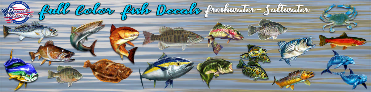 full color fish vinyl decals