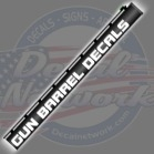 GUN barrel decals