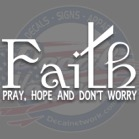 prayer faith decals