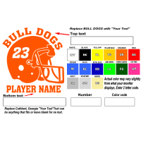 custom football helmet vinyl decals