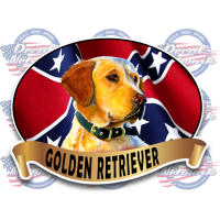 golden retriever rebel flag