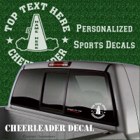 custom cheer decal sticker