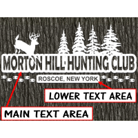 deer hunting club custom decal