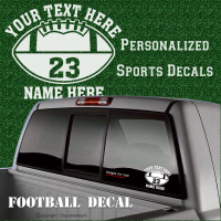 personalize custom football decal