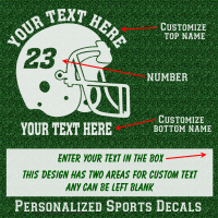 custom football helmet decal sticker