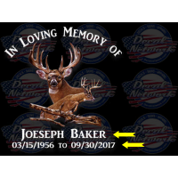 memorial decals deer