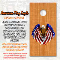 american flag eagle large corn hole board decal
