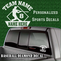 personalize custom baseball decal