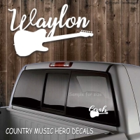 COUNTRY MUSIC HEROS GUITAR DECALS