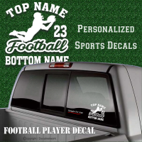 custom football player decal sticker