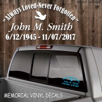 memorial in loving memory vinyl decal window sticker