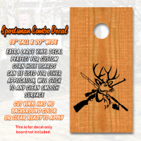 sportsman combo decal cormhole
