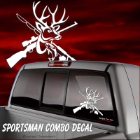 sportsman hunting fishing decal