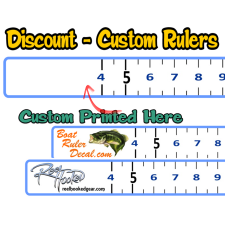 custom boat fish ruler decals