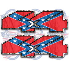 4x4 rebel flag camo decal