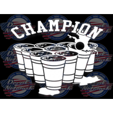 beer pong champion decal