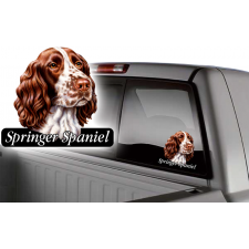 springer spaniel dog window decal