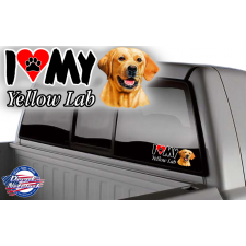 yellow lab vinyl dog decal