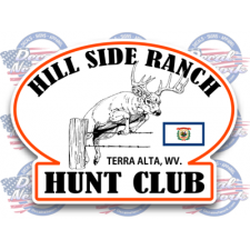custom oval hunt club color decals