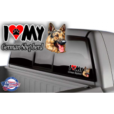 i love my german shephard truck window sticker decal